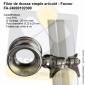 Filoir articulé inox simple de chandelier - Pour Tube 25 à 28mm