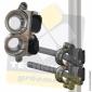 Filoir inox double de chandelier - Fixation Velcro®