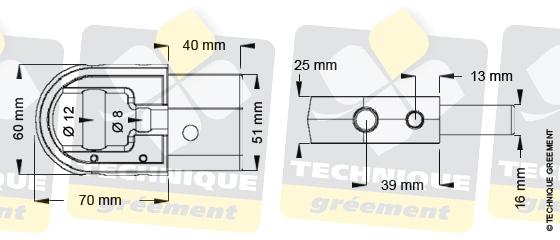 Dimensions embout barre de flèche ZSpars, Z3110