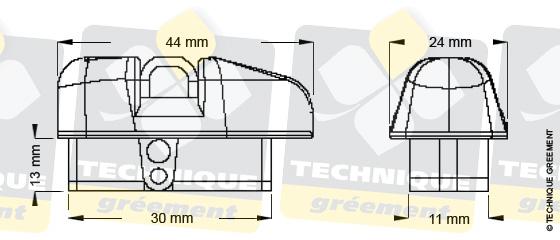 Dimensions embout barre de flèche ZSpars, Z3113