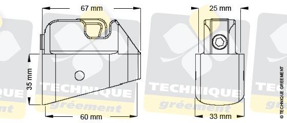 Dimensions embout barre de flèche ZSpars, Z3114