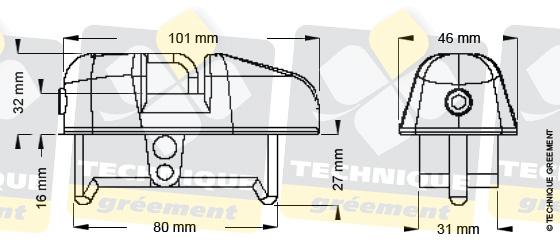 Dimensions embout barre de flèche ZSpars, Z3115