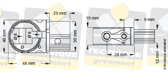 Dimensions embout barre de flèche ZSpars, Z3527