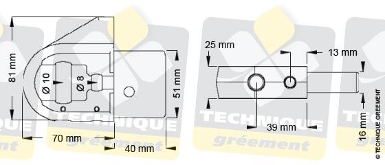 Dimensions embout barre de flèche ZSpars, Z3804
