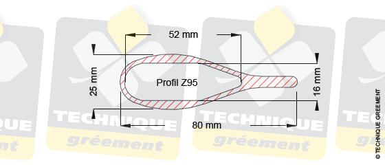 diDimensions barre de flèche Z95, pour embout barre de flèche Z3804 et Z3805