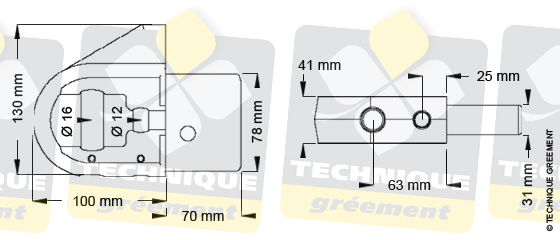 Dimensions embout barre de flèche ZSpars, Z3806