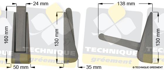 Dimensions marche de mât repliable ZSpars - 3628