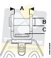 Poulie Lewmar Synchro Drisse Pied de Mât à Chape Dimension Chape