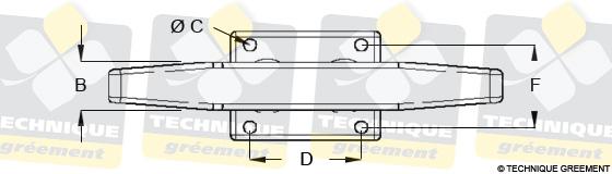 Dimensions Taquet ZSpars 2 Fixations