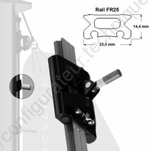 Rail de Guindant Chariot de Lattes de GV FL10 Torlon M10